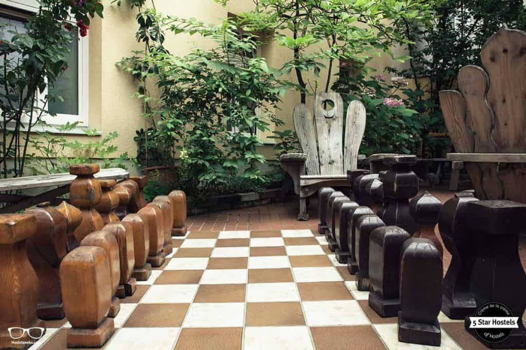 Real-Life chess game at Hostel Ruthensteiner, the 5 Star Hostel in Vienna