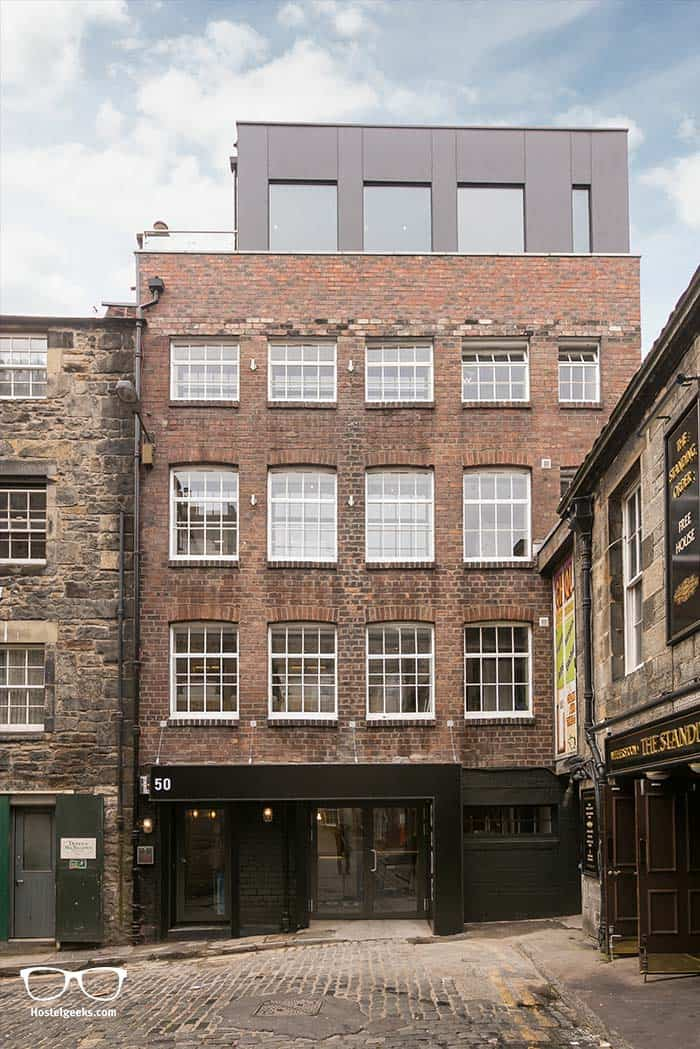 architecture building of CODE Hostel in Edinburgh