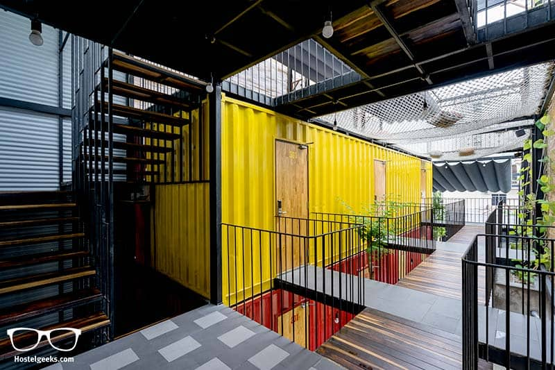 CCASA Hostel is a 100% Architecture dream, built out of 3 shipping containers