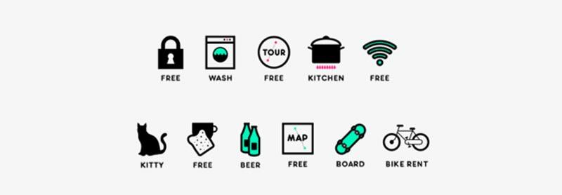 Hostel Icons