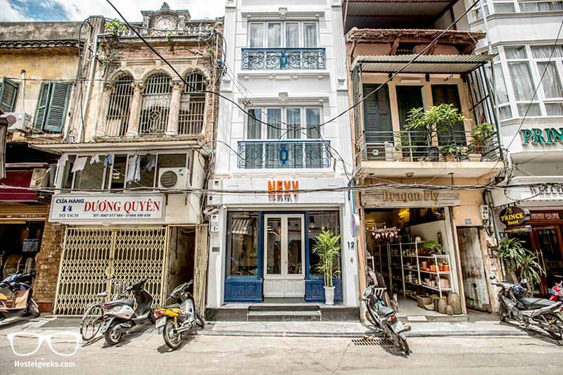hostel architecture in Hanoi, Vietnam - NEXY Hostels
