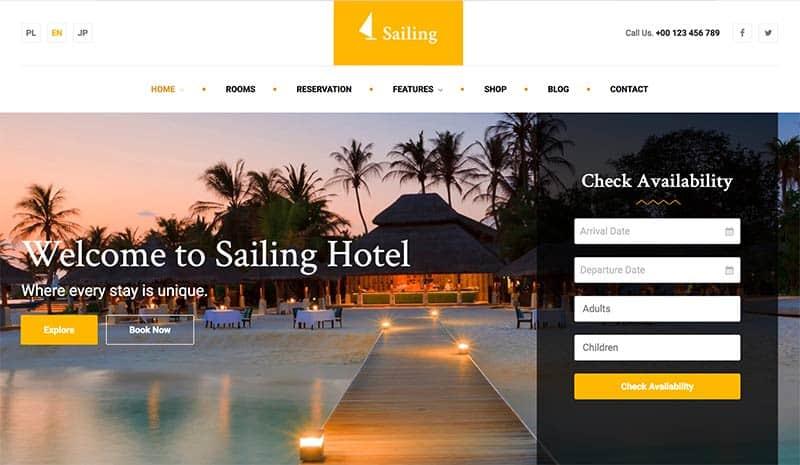 Sailing Hotel Theme